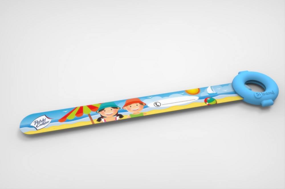 Opaska identyfikacyjna dla dziecka na wakacjach - gadżet reklamowy z nadrukiem dla firm