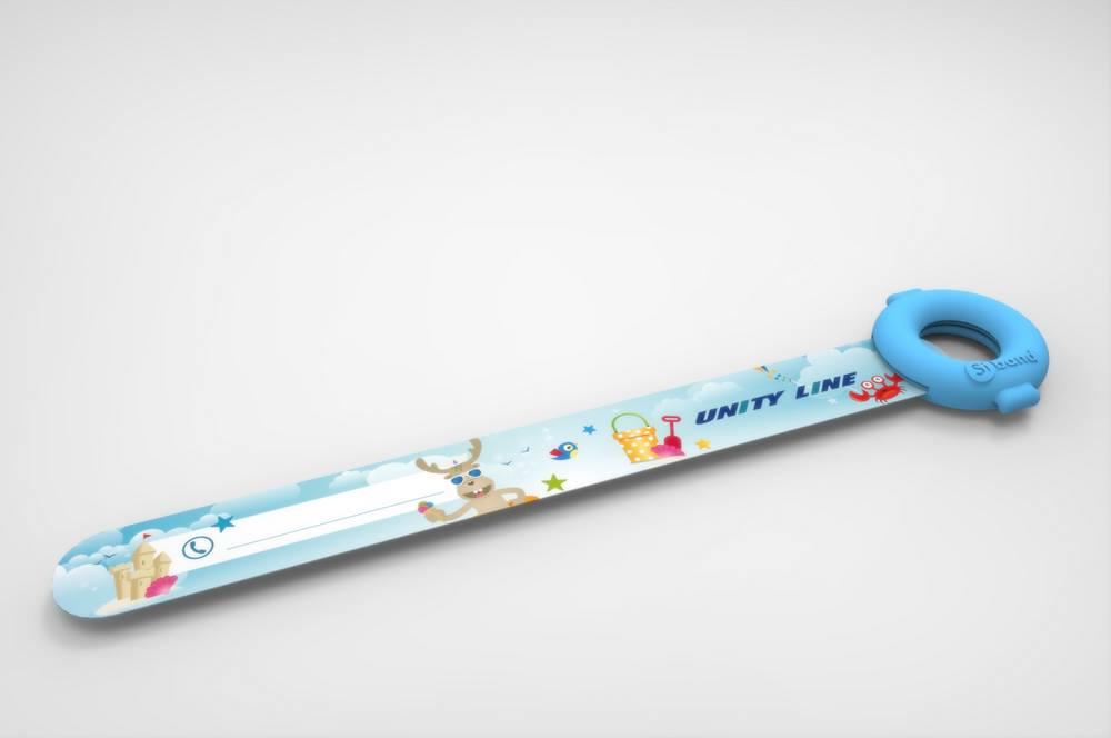 Opaska identyfikacyjna dla dziecka w podróży - gadżet reklamowy dla firm turystycznych