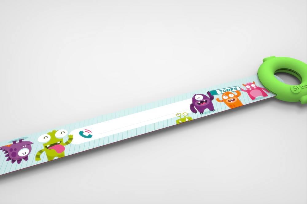 Przydatna opaska dla dziecka w supermarkecie - gadżet reklamowy z nadrukiem dla sklepów
