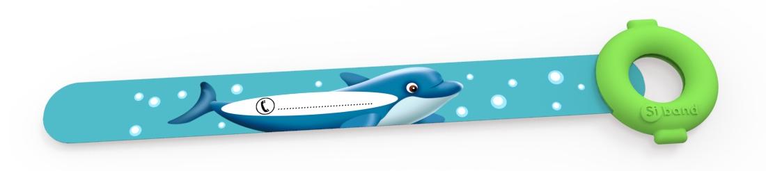 Dziecięca opaska ID na rękę - Delfin - Siband