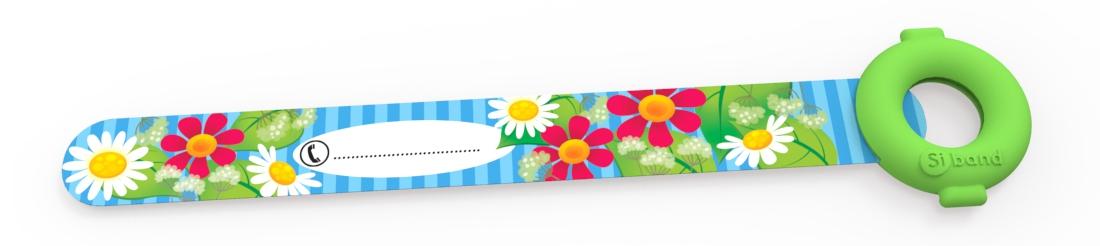 Opaska niezgubka - Kwiatki - Siband