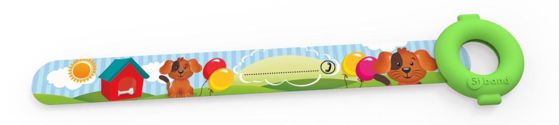 Opaska niezgubka - pies i balony - Siband