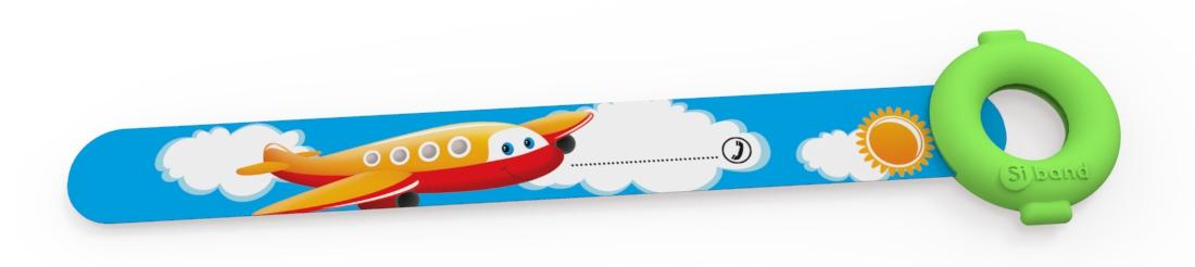 Opaski niezgubki - Samolot pomarańczowy - Siband