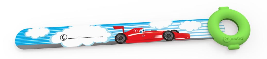 Opaski niezgubki - samochodzik wyścigowy - Siband