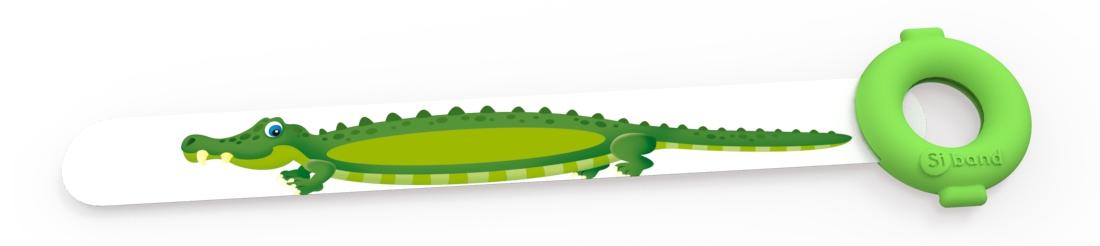 Dziecięce opaski identyfikacyjne na rękę - Krokodyl - Siband