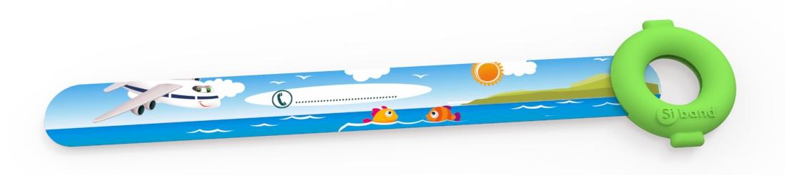Bransoletka niezgubka - Samolot i rybki - Siband